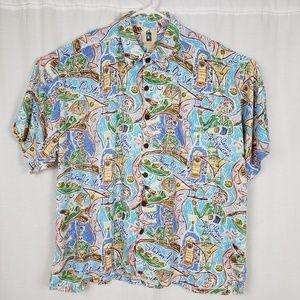 Kahala Mens Martini Hawaiian Shirt
